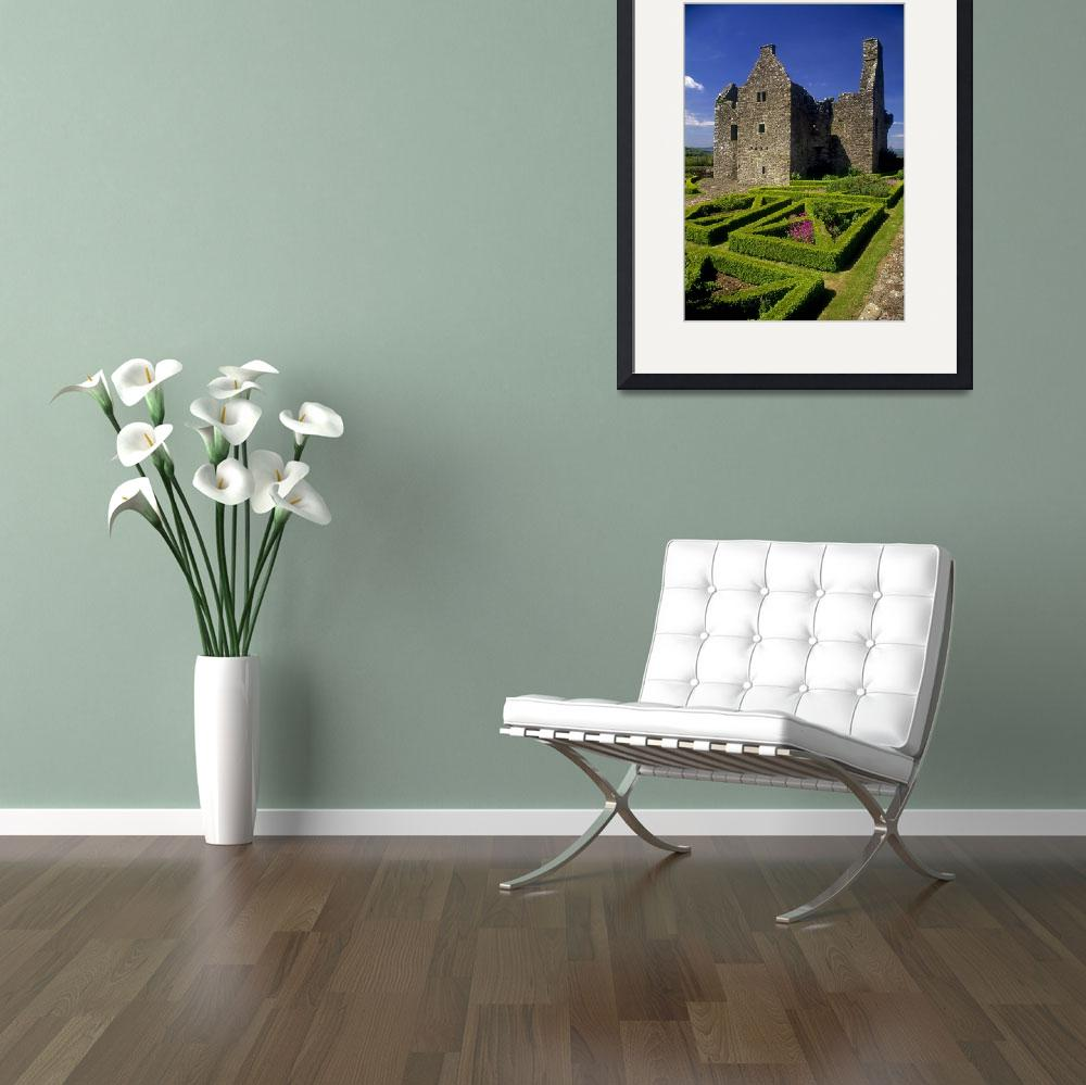 """Garden In Front Of Tully Castle, County Fermanagh,&quot  by DesignPics"