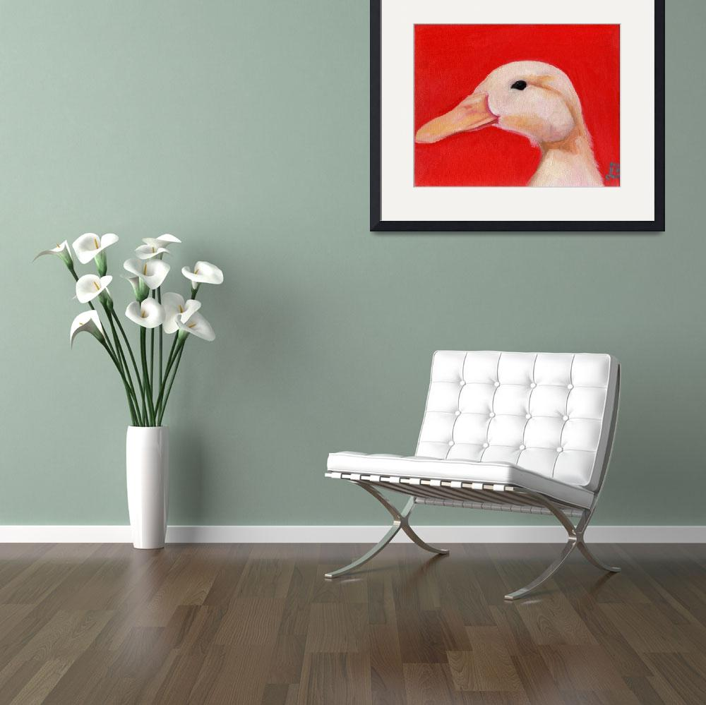 """Portrait of Chester - White Duck&quot  (2007) by artchiz"