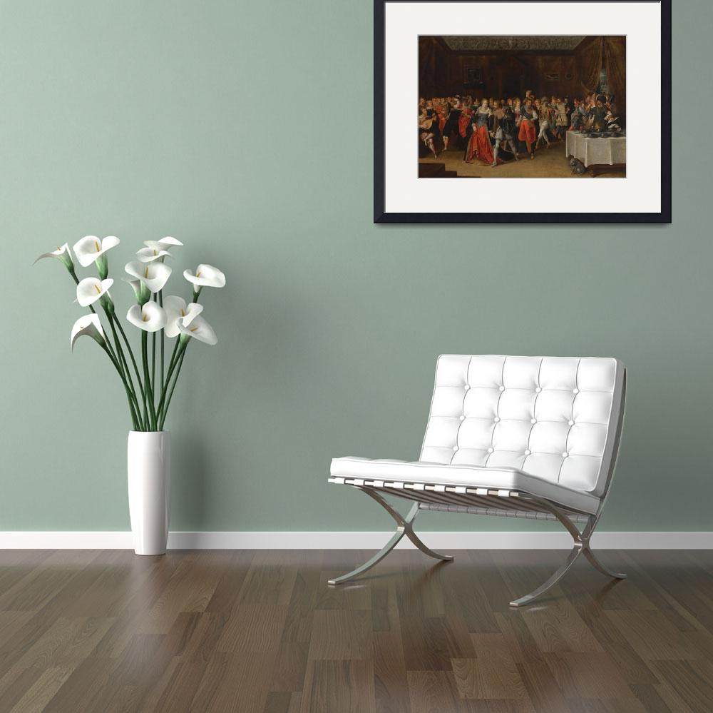 """Hieronymus Francken An Interior Scene With Elegant&quot  by motionage"