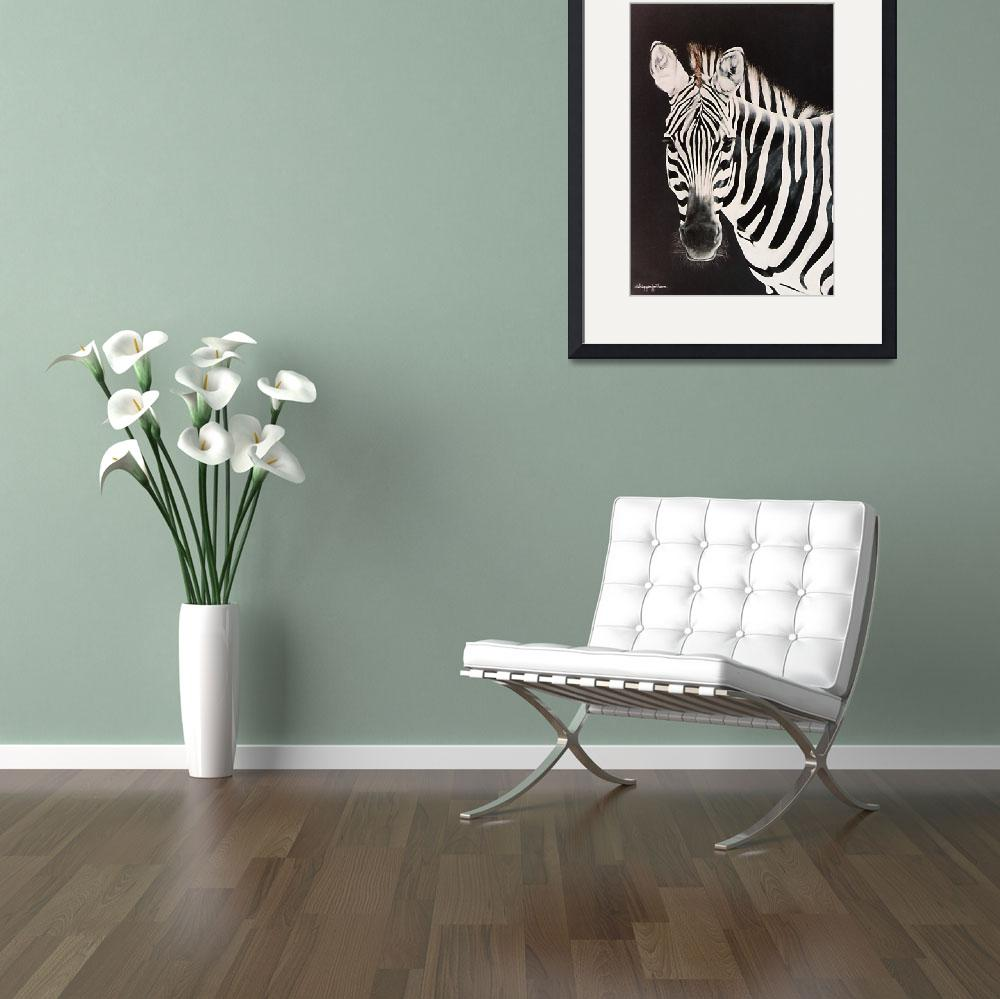 """Zebra #2  painting&quot  by AnimalsbyDiDi"