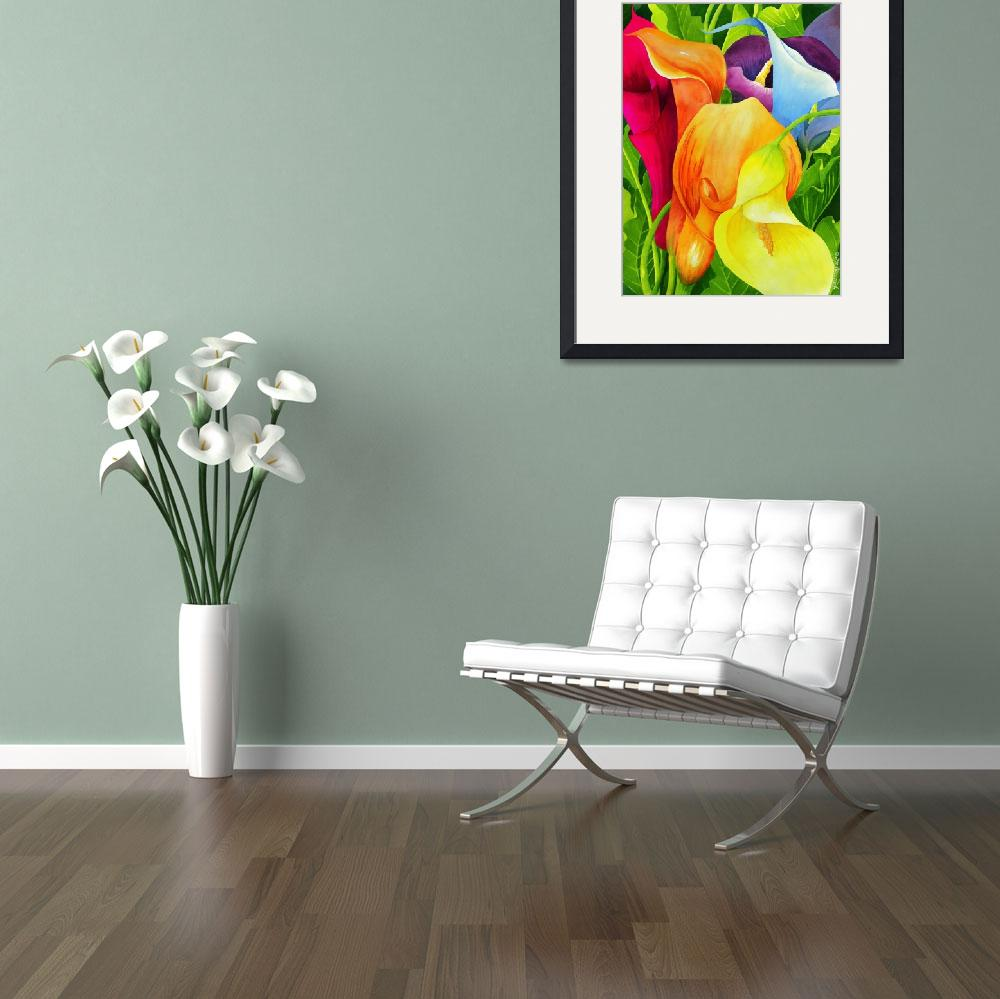 """Calla Lily Rainbow&quot  (2010) by janlan44"
