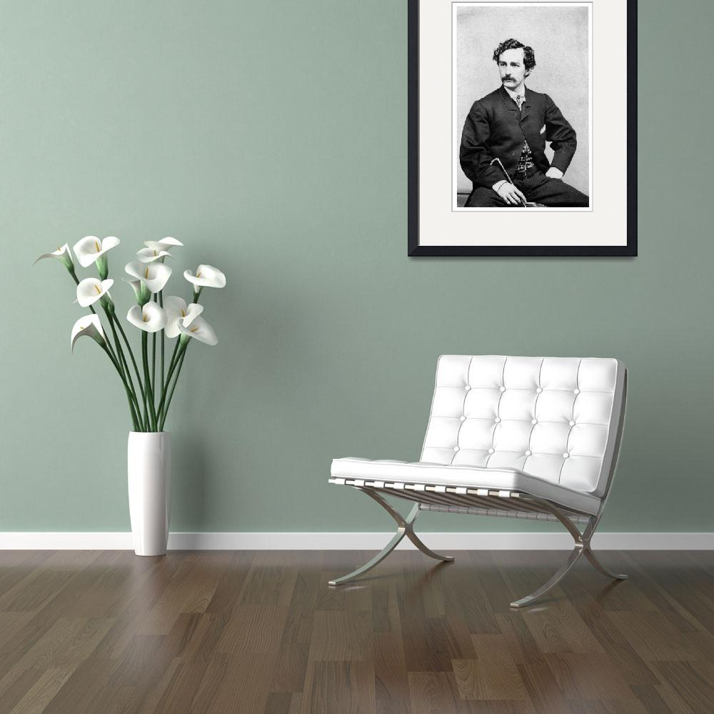 """Portrait of John Wilkes Booth&quot  by ArtLoversOnline"