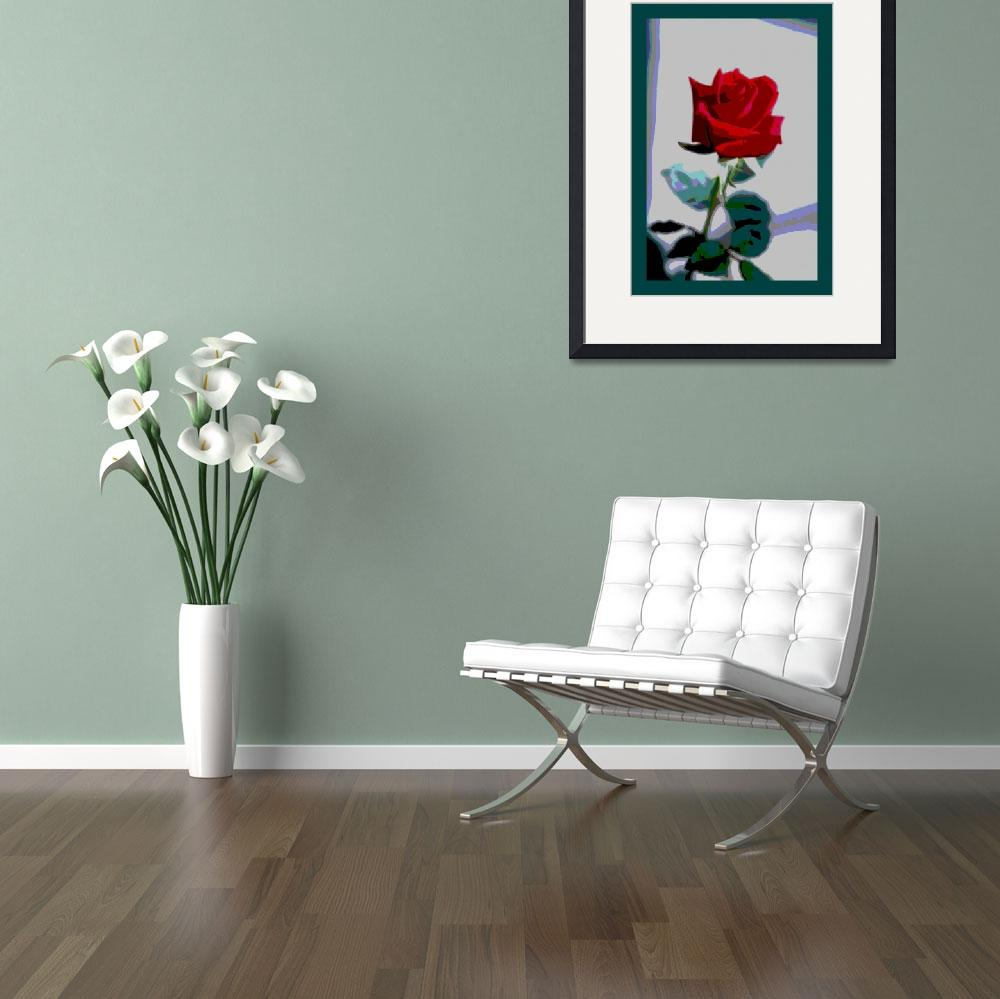 """Red Rose Enhanced medium border&quot  (2013) by TheNorthernTerritory"