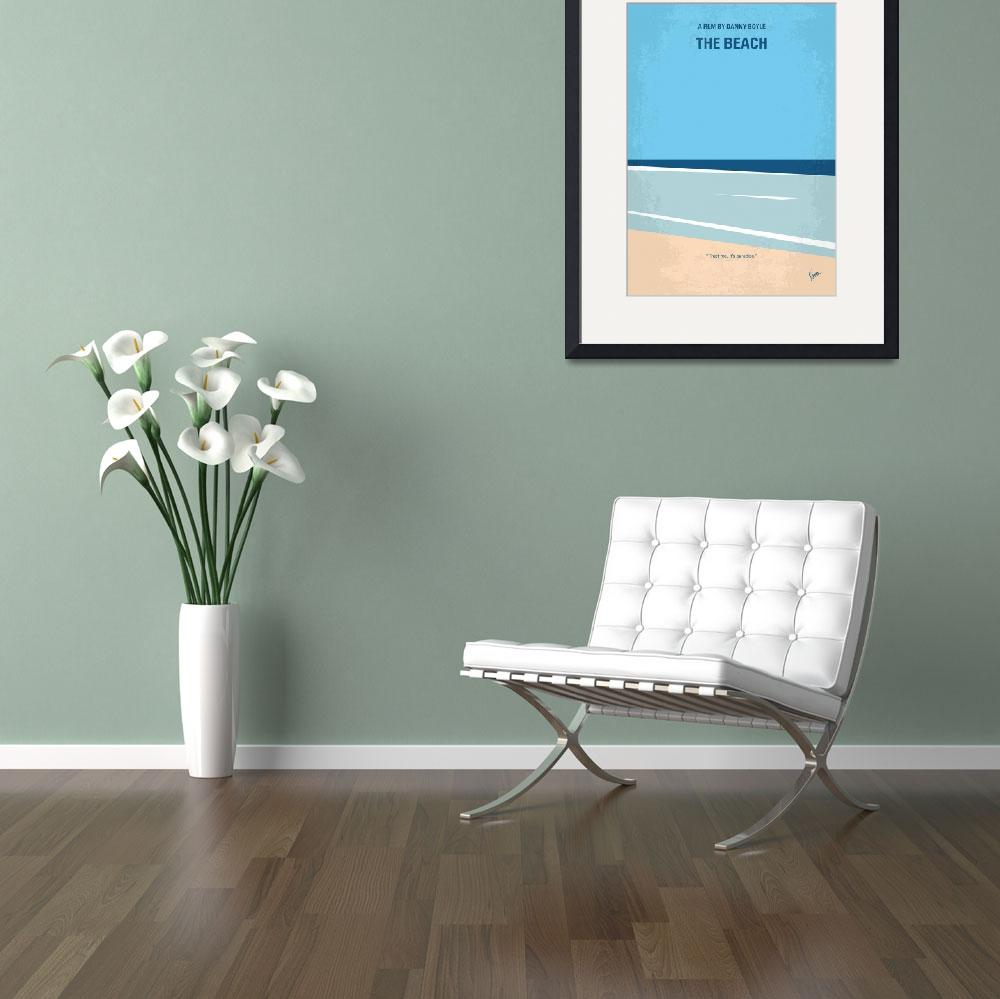 """No569 My The Beach minimal movie poster&quot  by Chungkong"