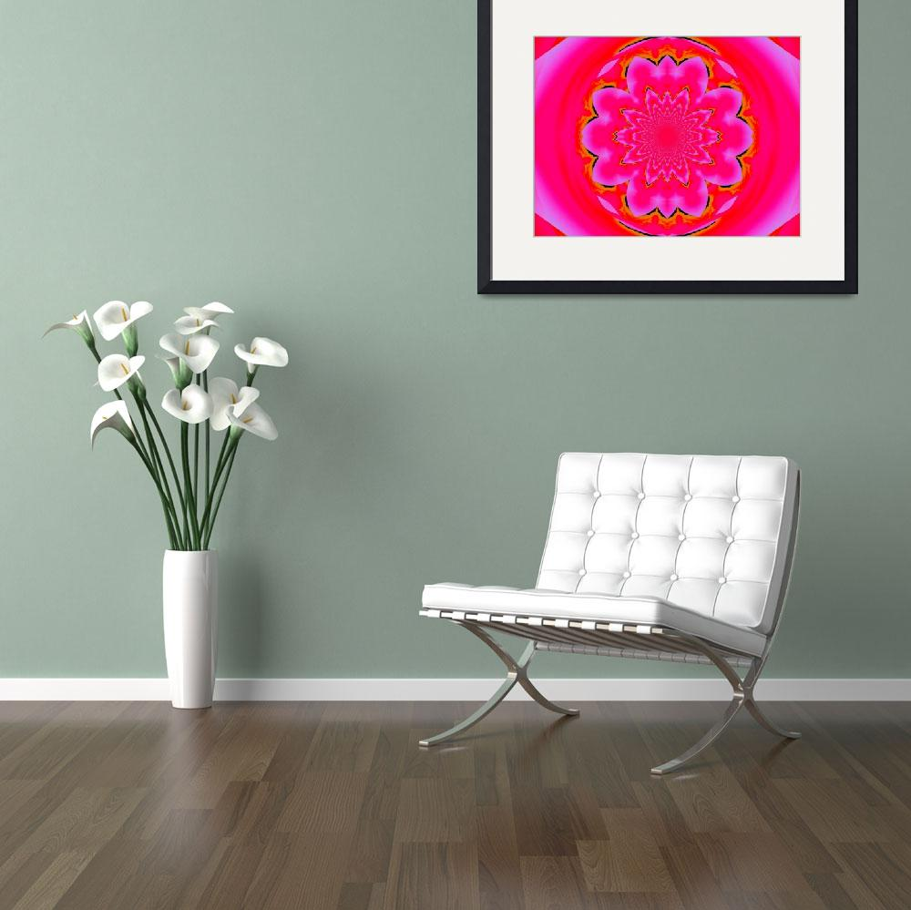 """Calm Pink Lotus Mandala  2&quot  by Atlantis-Seeker-Art"