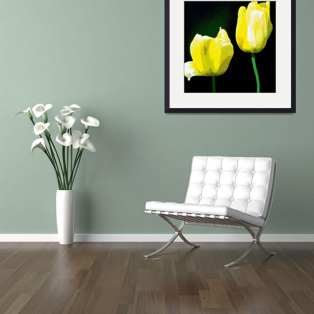 """YELLOW TULIPS&quot  (2014) by HerbDickinson"