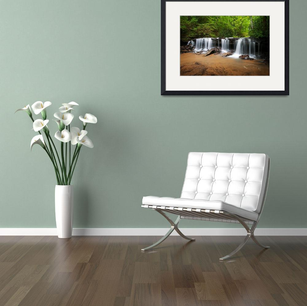 """Perpetuelles - Small Waterfall Landscape&quot  (2010) by DAPhoto"
