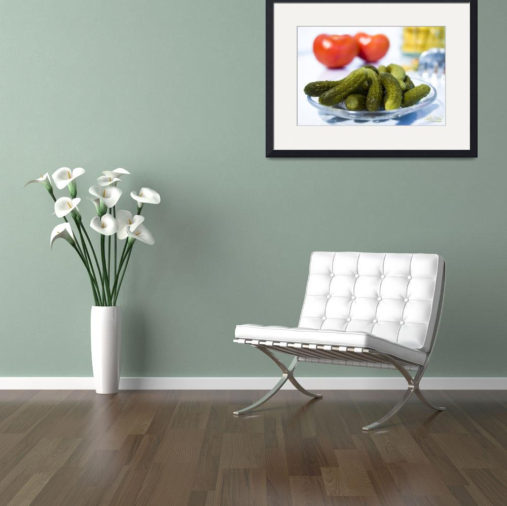 """GHERKINS AND TOMATOES&quot  (2008) by PhilipDelos"