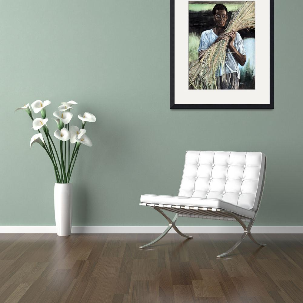 """Haitian Farmer&quot  (1993) by ClotheslineArt"