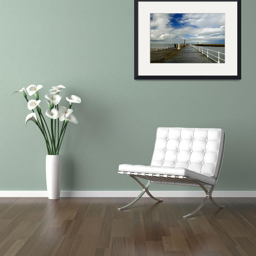 """Along The West Pier, Whitby (40226-RDA)&quot  (2014) by rodjohnson"