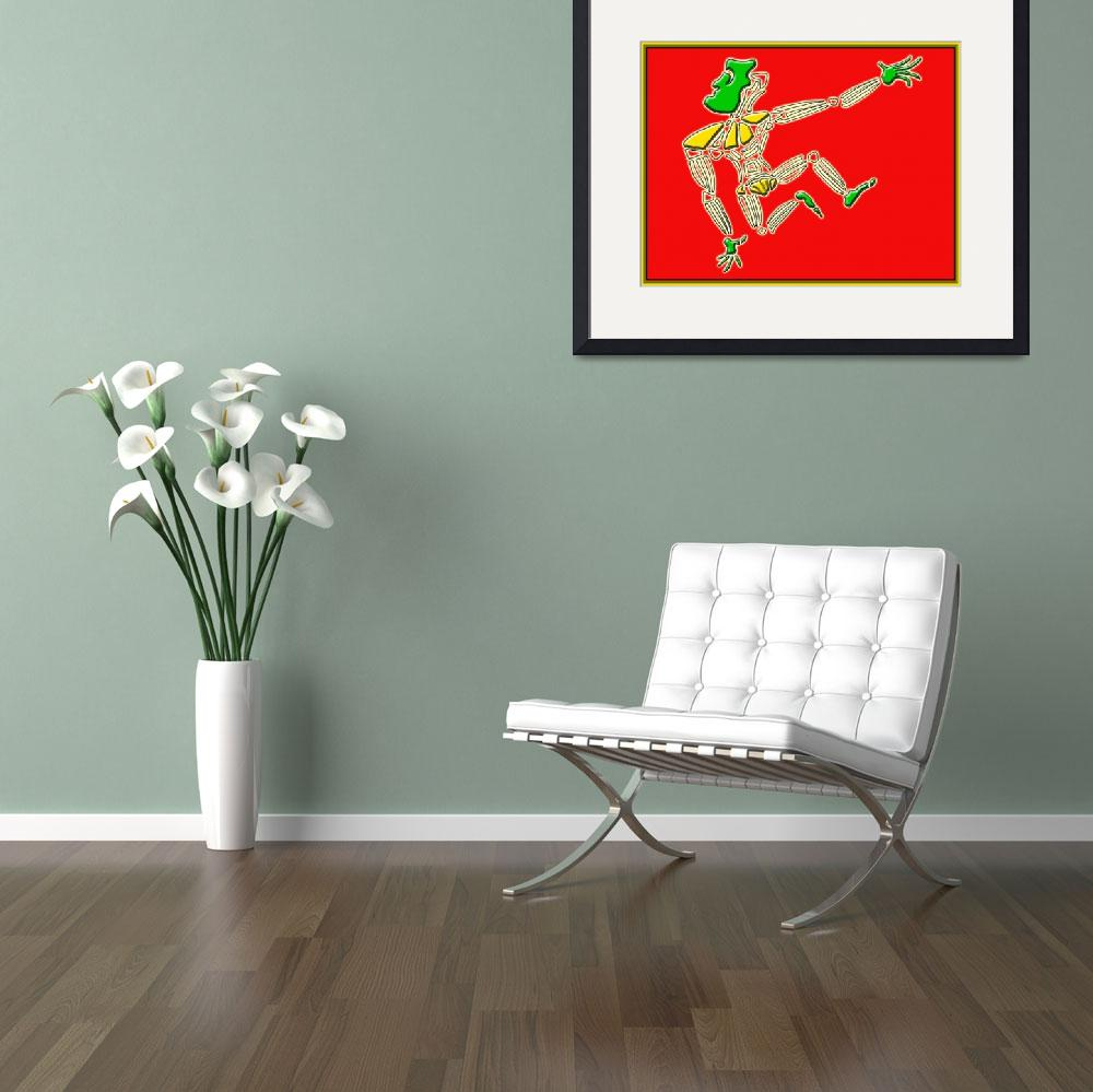 """Dance Warrior 13  red and green&quot  (2010) by JimmyGlennGreenway"
