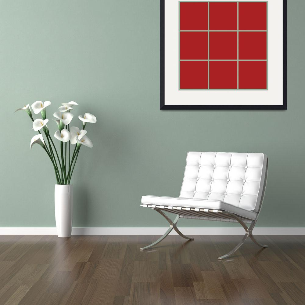 """Red Window 152 Canvas Contemporary Modern&quot  (2010) by Ricardos"