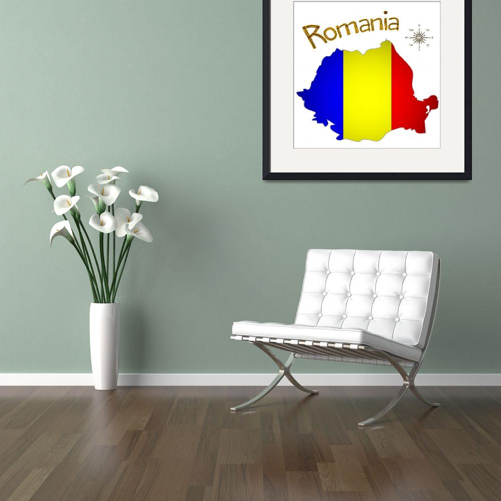 """romanian map&quot  by robertosch"