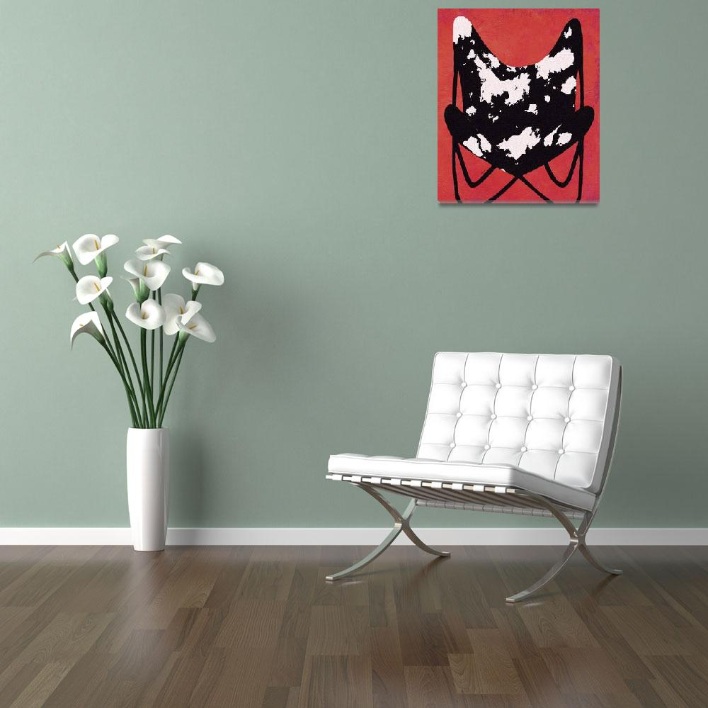 """VINTAGE BUTTERFLY CHAIR - JUST RELAX&quot  (2008) by lisaweedn"