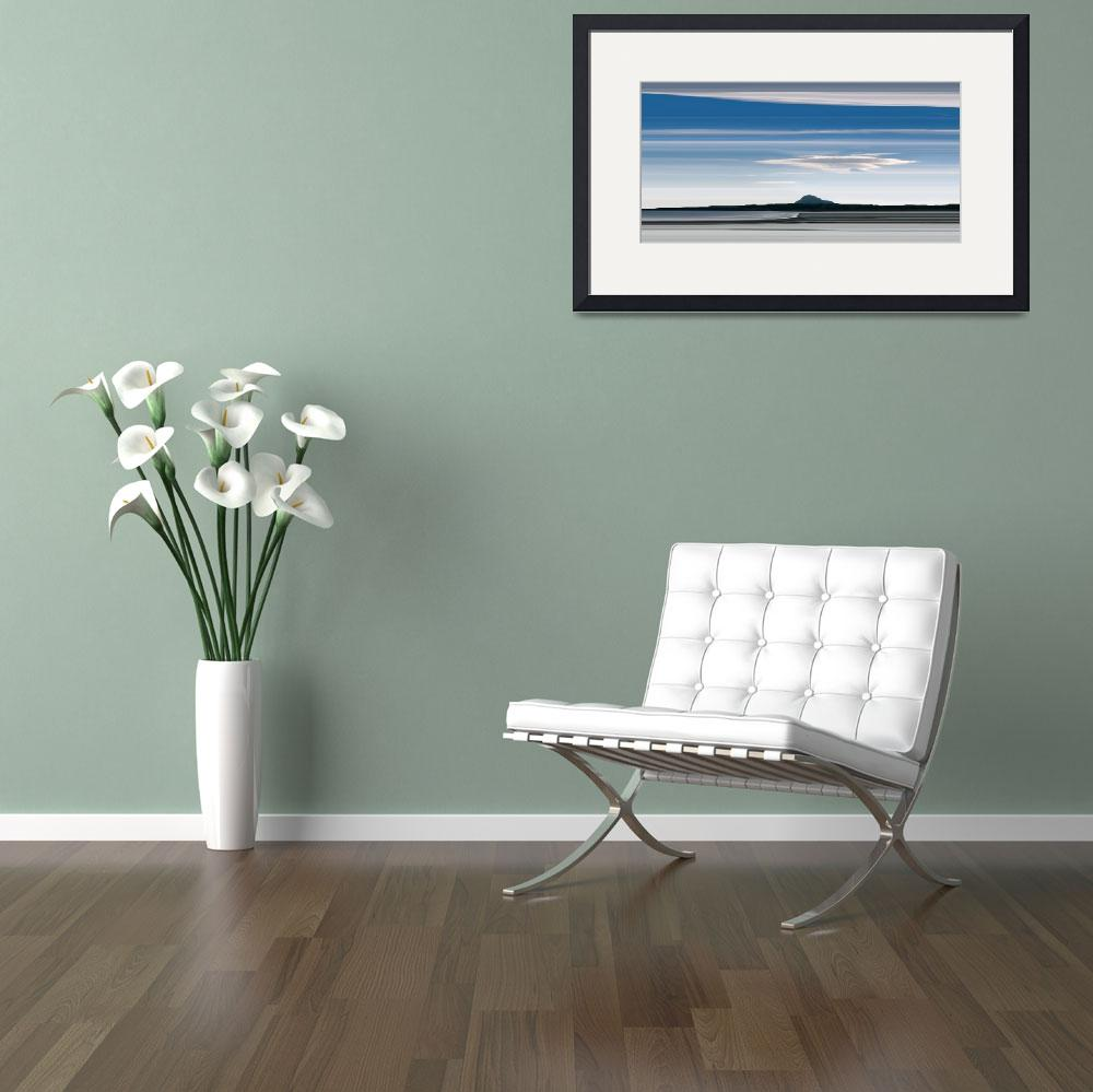 """north berwick law from yellowcraigs&quot  by Bluefinart"