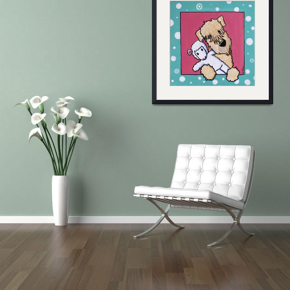 """Lamb Lover Wheaten Terrier&quot  (2011) by KiniArt"