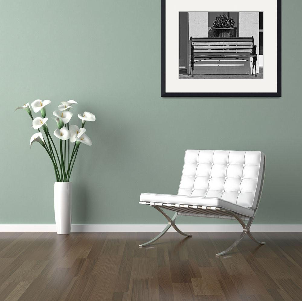 """Chateau Elan Bench B&W&quot  by psmphotography"
