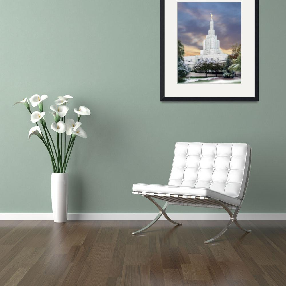 """Idaho Falls Temple&quot  by TerrySpringer"