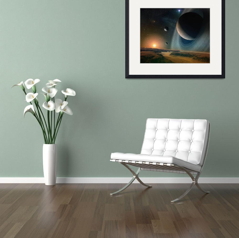 """Planet scape - space art&quot  by fantasyart"
