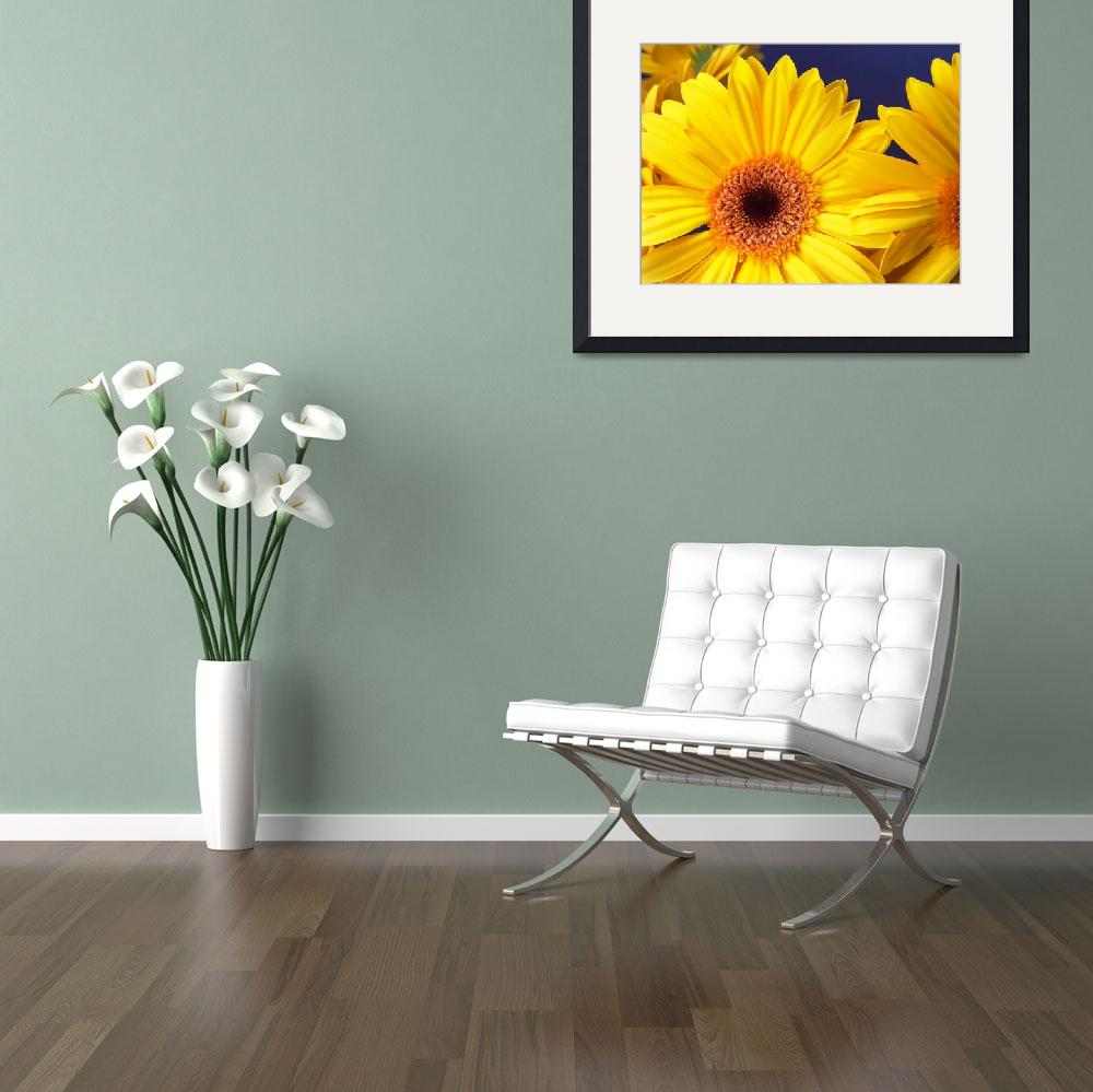 """Yellow Gerbera Daisy Cheerful&quot  (2006) by Infomages"