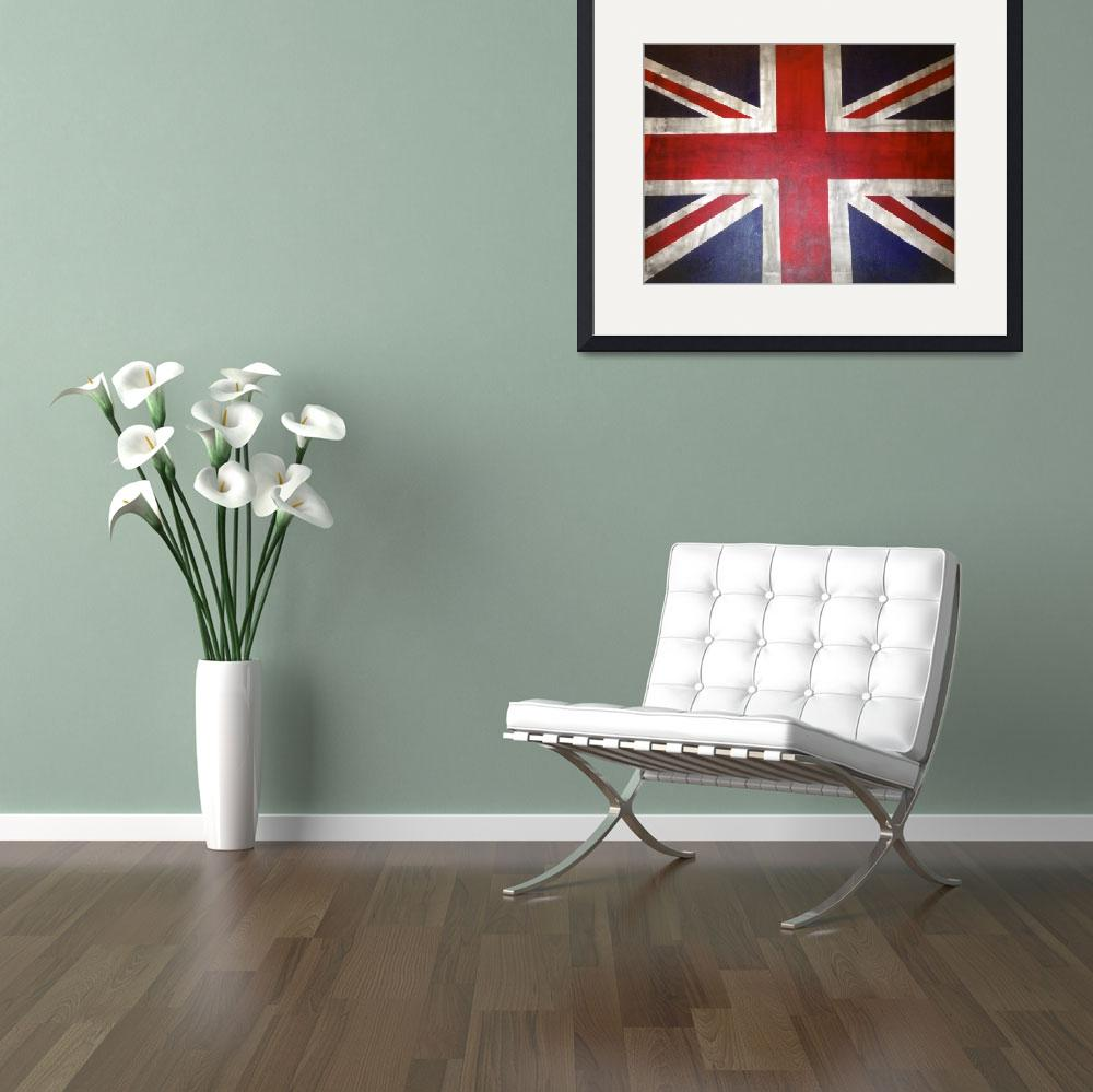 """A Rustic UK/ British Flag&quot  (2013) by TheArtwerks"