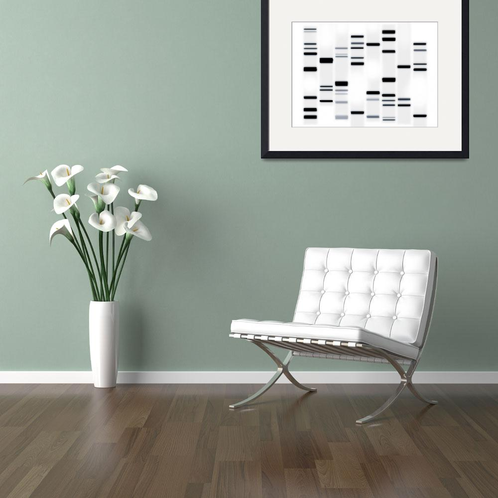 """DNA Art Black on White&quot  (2010) by ModernArtPrints"