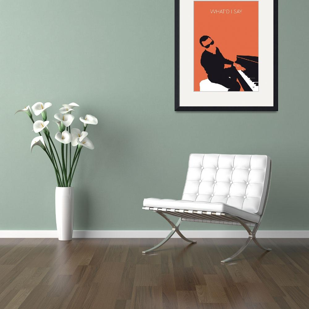 """No003 MY Ray Charles Minimal Music poster&quot  by Chungkong"