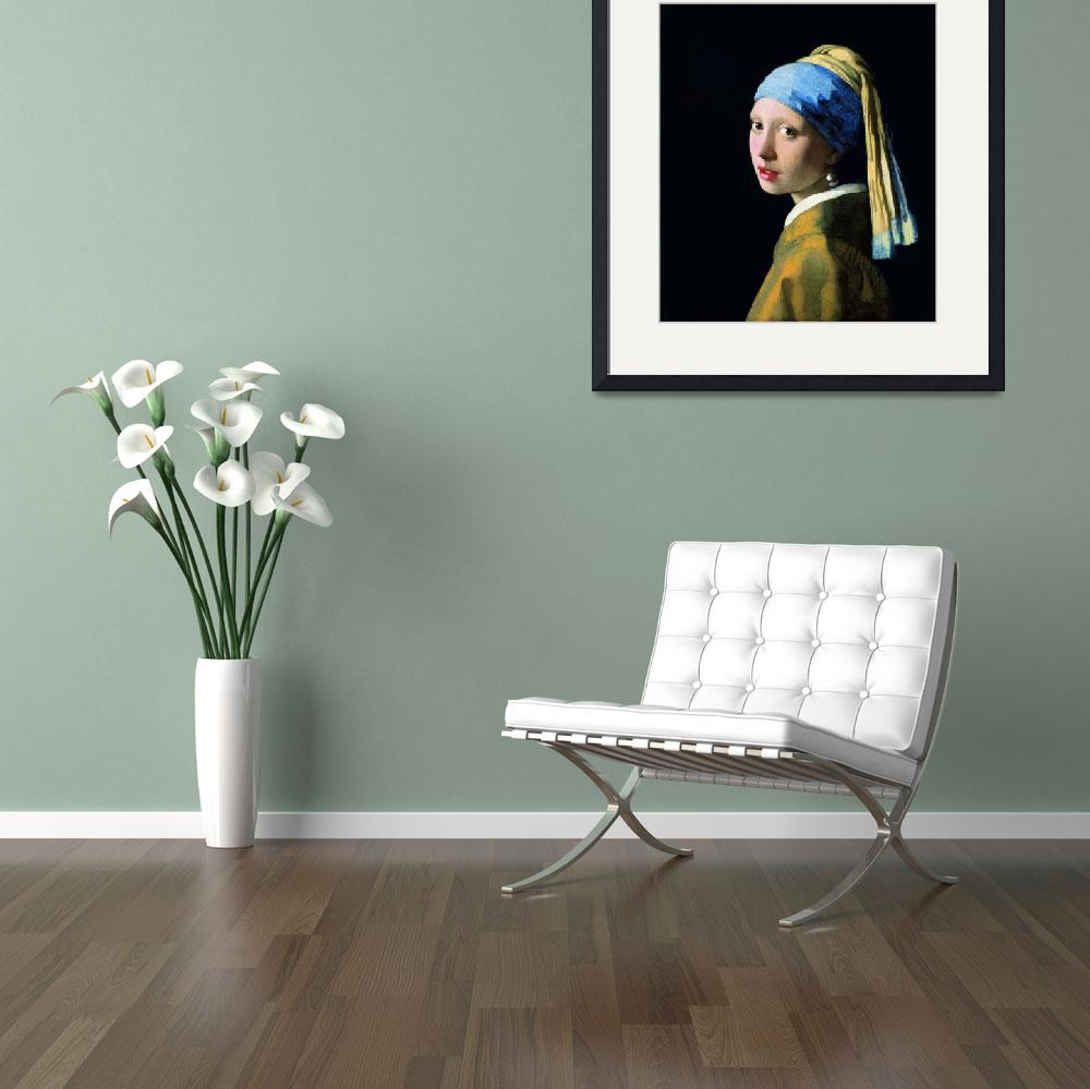 """Jan Vermeer Girl With A Pearl Earring Baroque Art&quot  by masterpiecesofart"