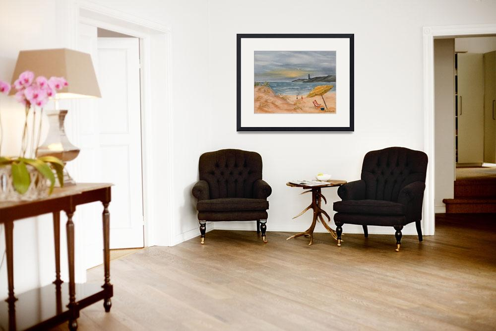 """beach oil painting coastal decor&quot  (2001) by derekmccrea"