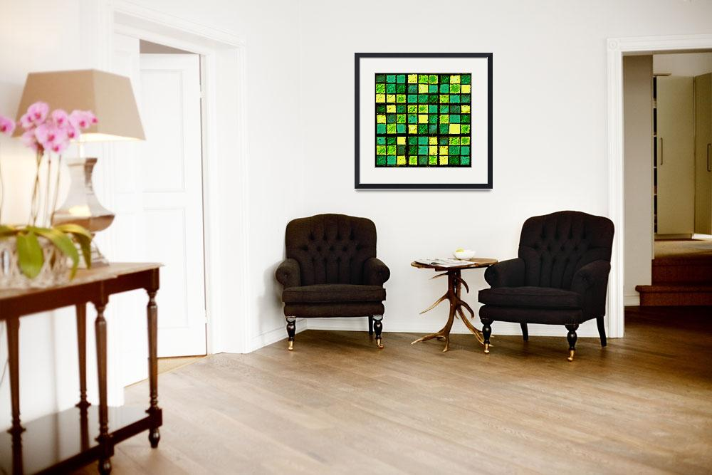 """Sudoku Abstract Green Yellow&quot  (2012) by KsWorldArt"