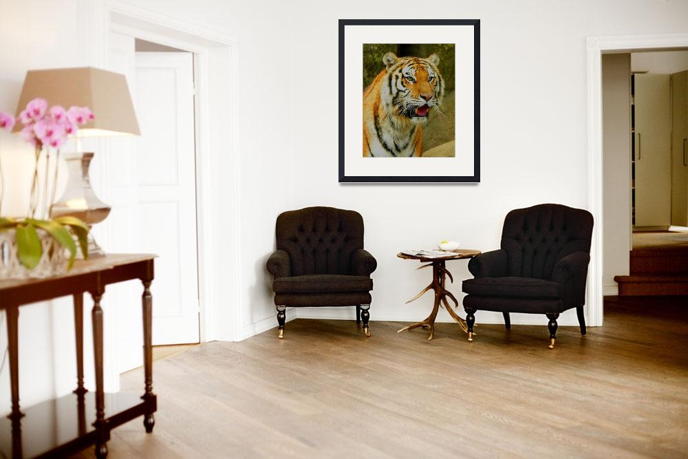 """Tiger Stare&quot  (2010) by SandiOReilly"