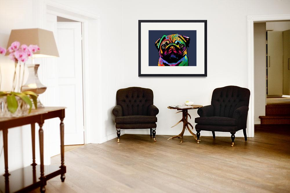 """Pug Dog&quot  (2015) by ModernArtPrints"