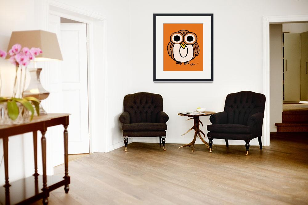 """Wide-Eyed Owl Says ""HOOT""!!&quot  (2008) by kristensteinfineart"