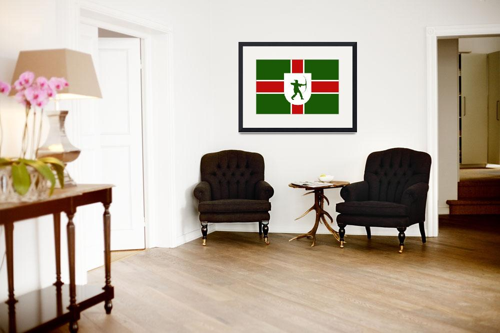 """nottinghamshire flag&quot  by tony4urban"
