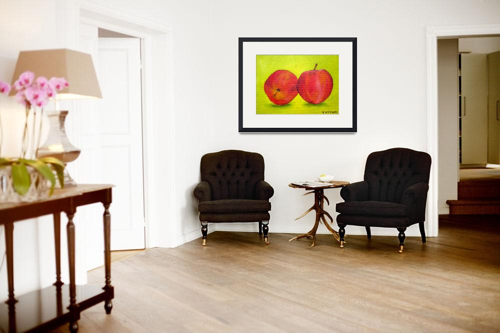 """apples&quot  (2011) by traciebrownart"