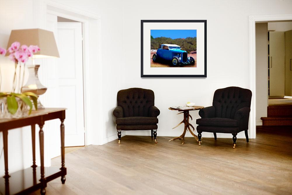 """White Topped Convertible&quot  (2011) by artstoreroom"