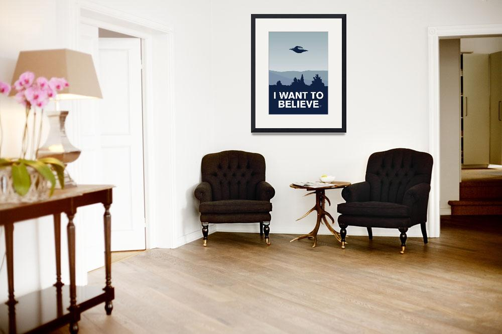 """My I want to believe minimal poster-xfiles&quot  by Chungkong"