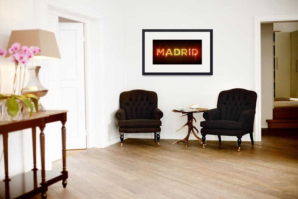 """Madrid in Lights&quot  (2011) by ModernArtPrints"