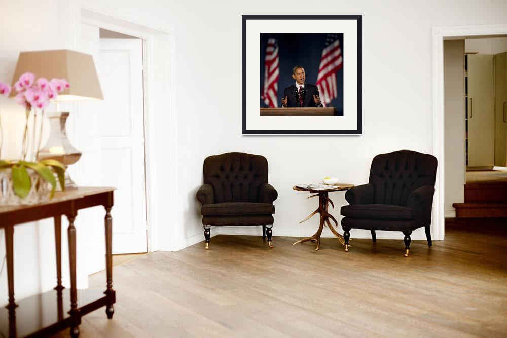 """Barack Obama 5&quot  (2008) by hestoft"
