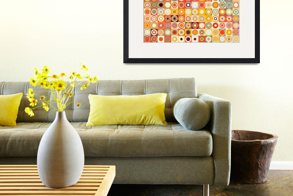 """Circles and Squares 26. Modern Abstract Fine Art&quot  (2013) by MarkLawrence"