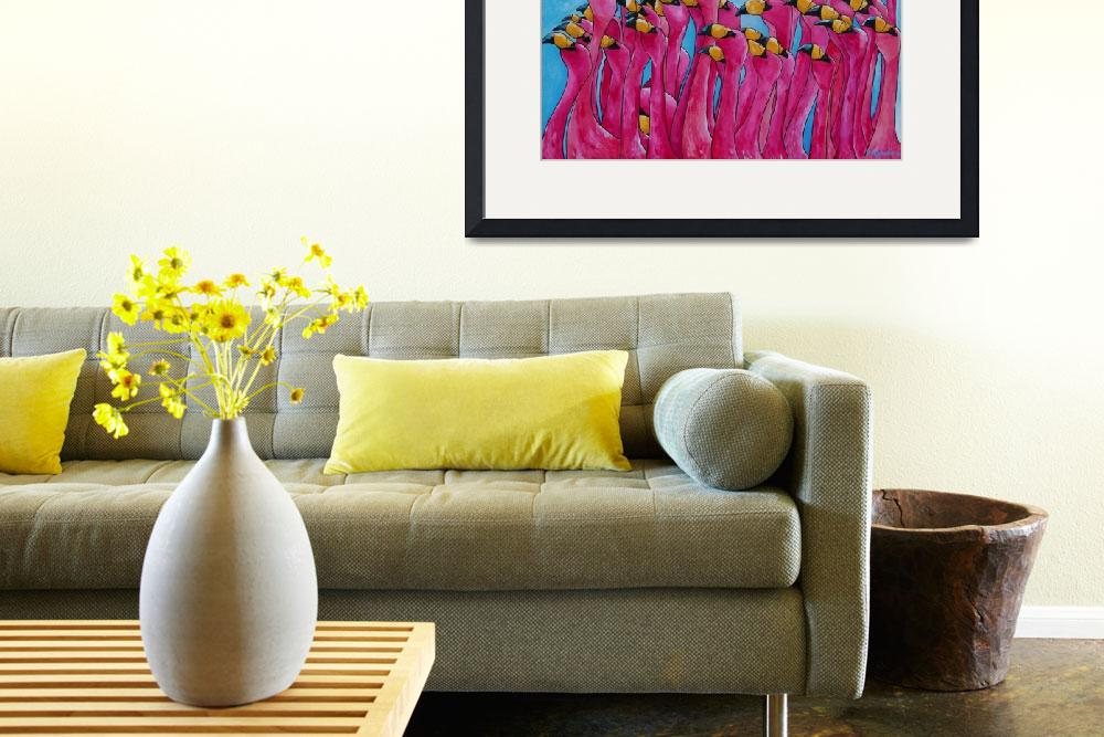 """Pink Flamingos&quot  by artbypatti"