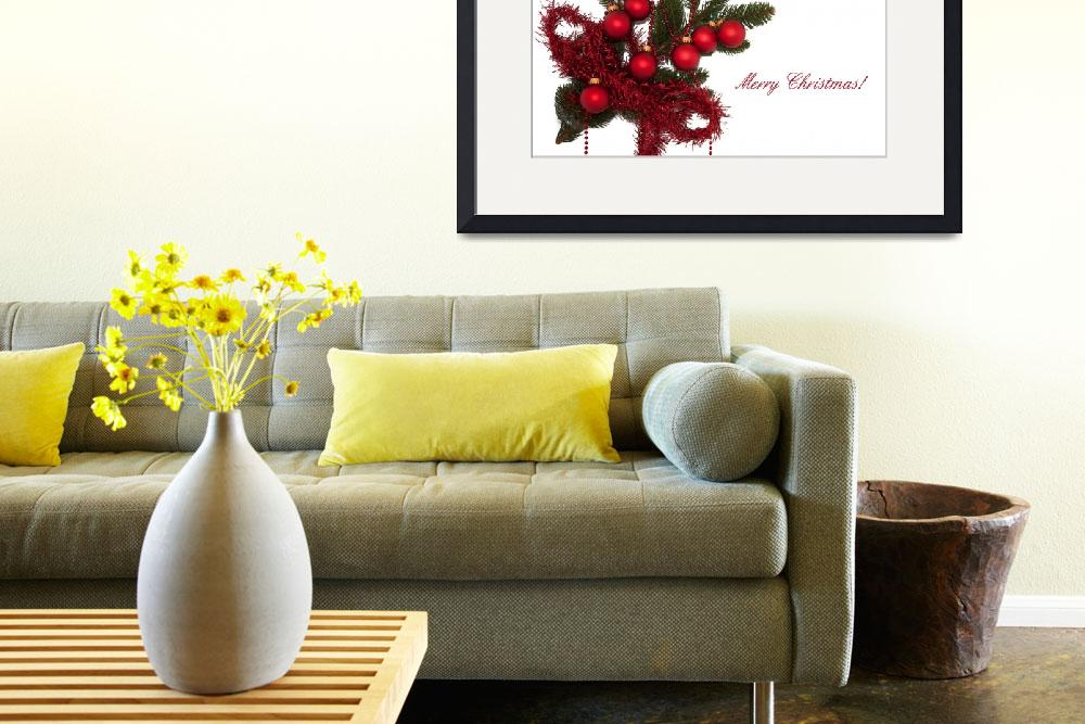 """Christmas Card On White Background&quot  (2010) by shopartgallery"