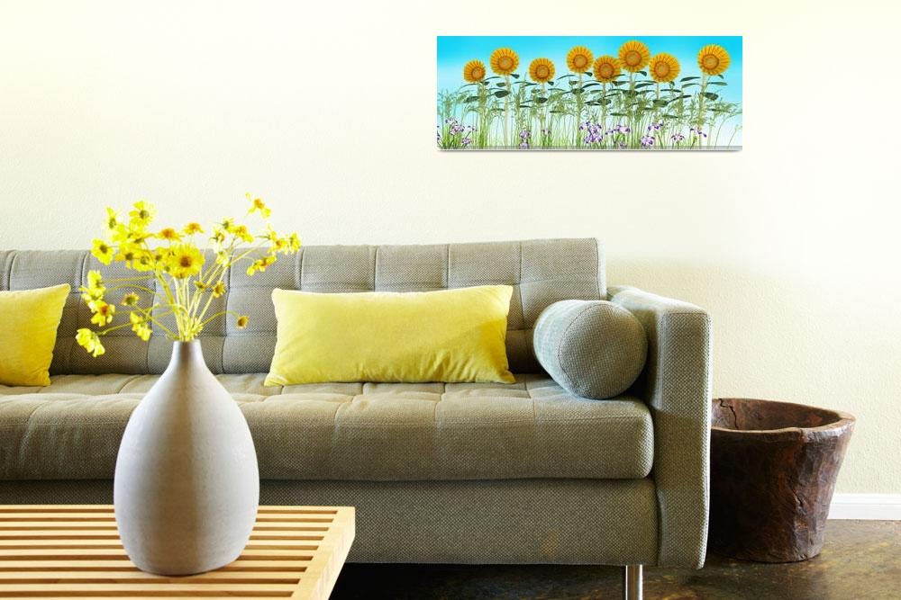 """Sunflowers in a Row&quot  (2013) by walbyent"