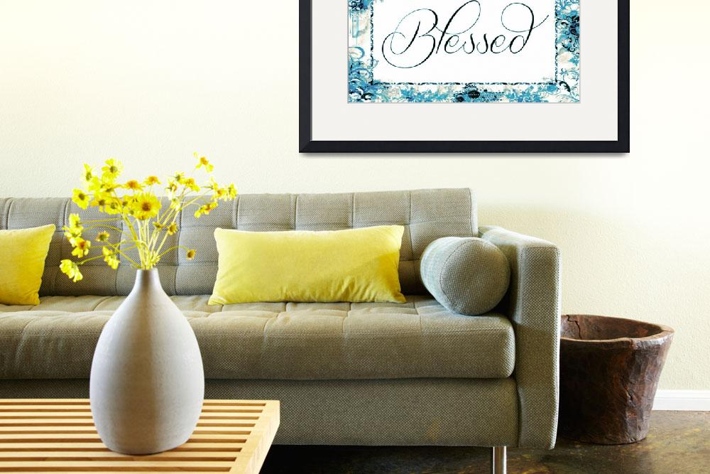 """blessed frame teal&quot  by lizmix"