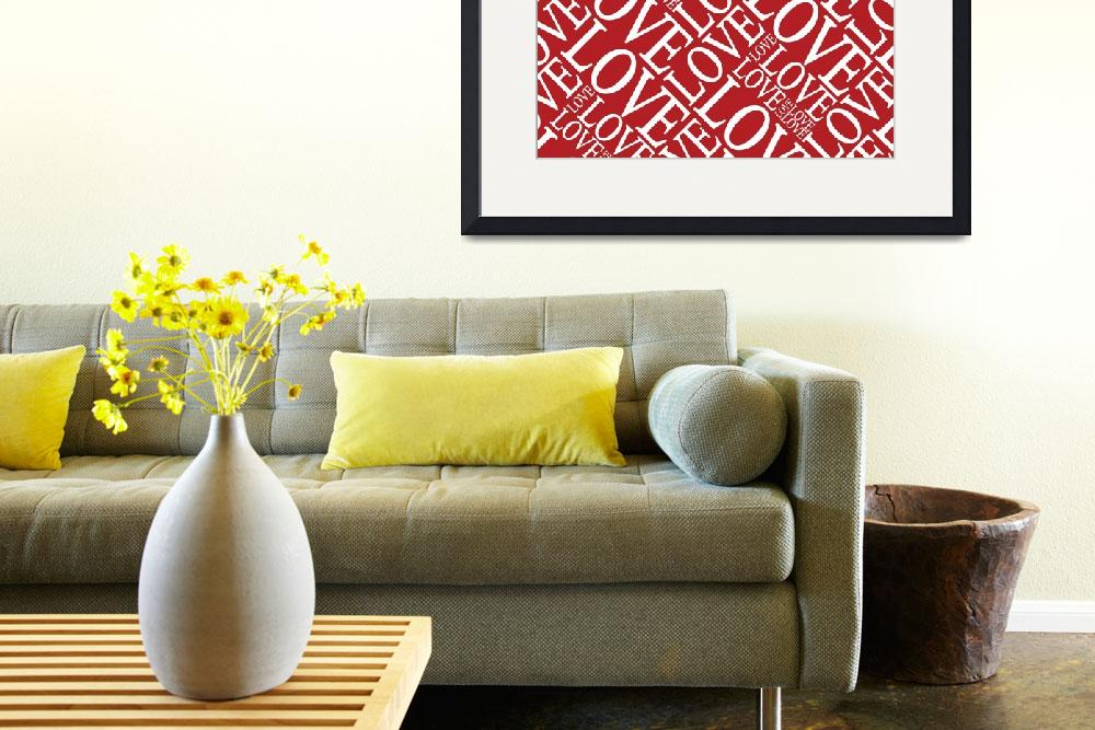 """Love in Red&quot  (2011) by ModernArtPrints"