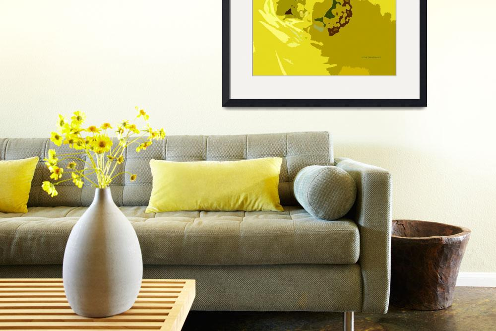 """Yellow Flower Cutout&quot  (2013) by Lucine"