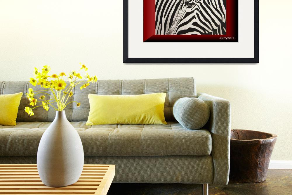 """zebra framed&quot  by Spangles44"