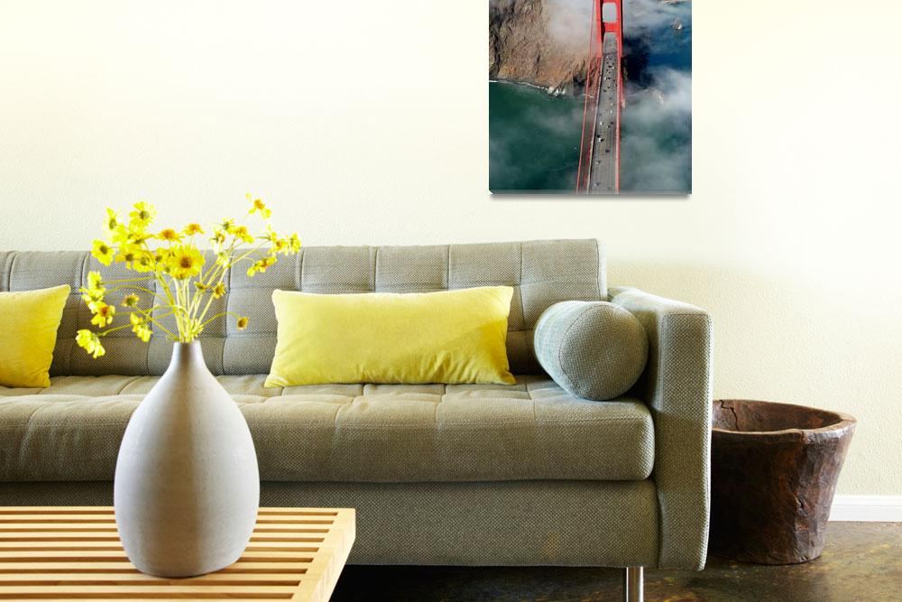 """Aerial Golden Gate Bridge North Bay&quot  (2005) by sfbayimages"