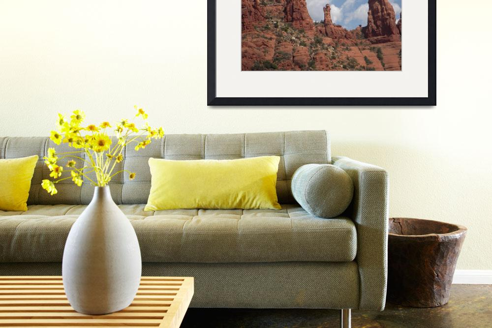 """Sedona mt. red rock view at chapel&quot  (2008) by decal5"