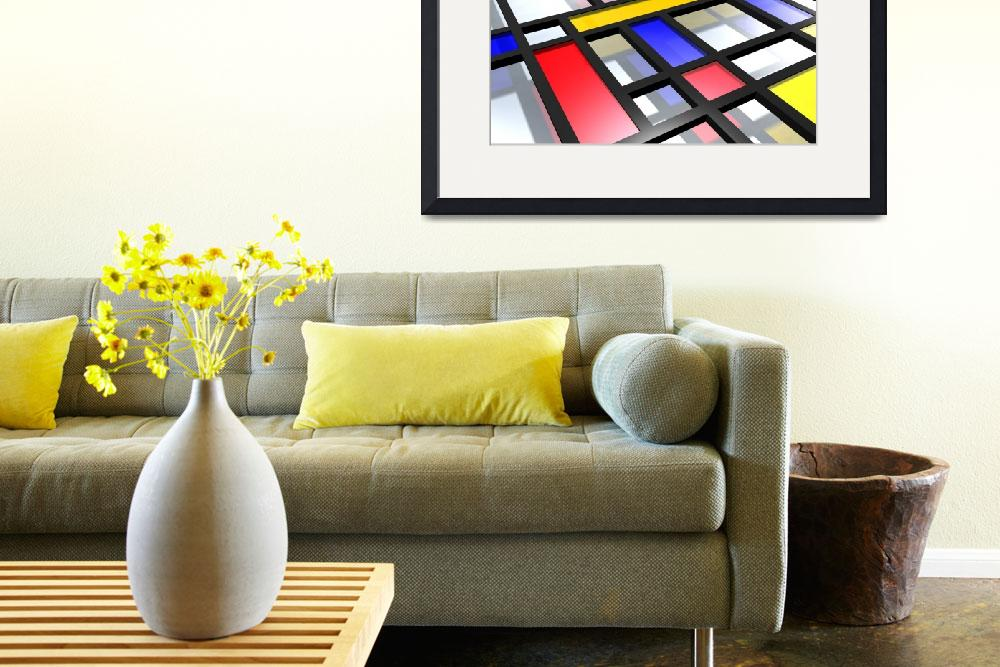 """Mondrian Inspired 3D&quot  (2010) by ModernArtPrints"